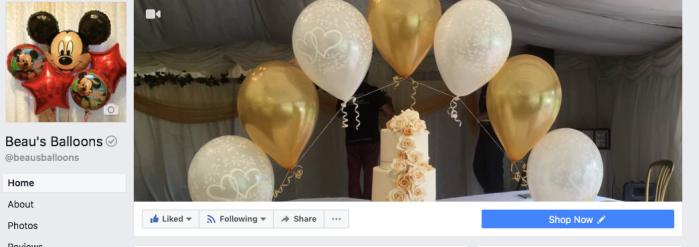 Beau's Balloons on Facebook